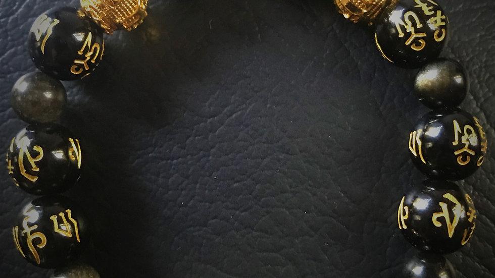 Obsidian Wealth Bracelet
