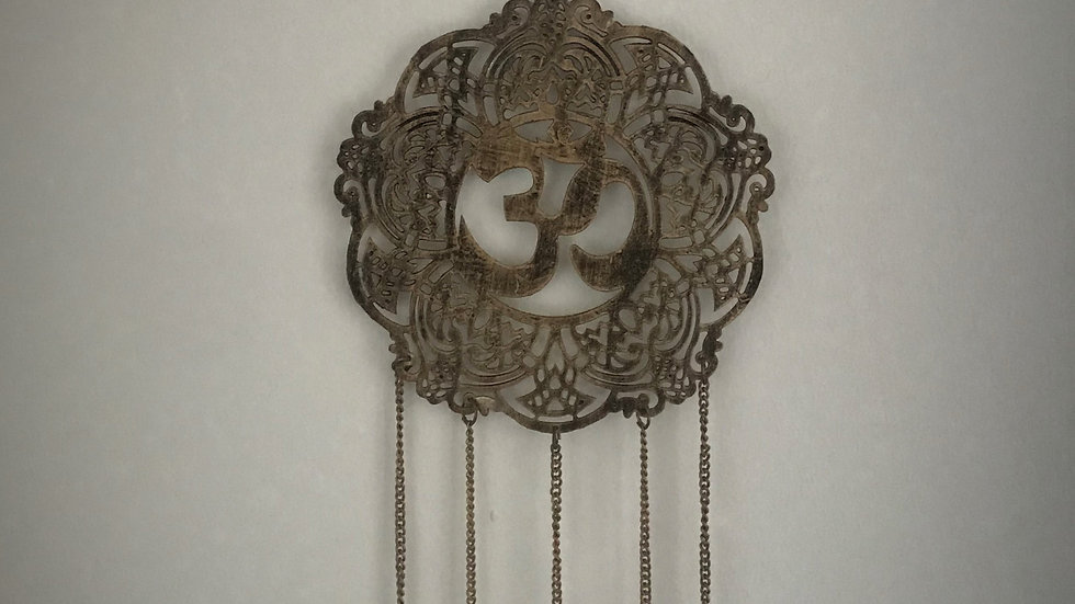 Aum-Chime with Bells (Medium/Gold)