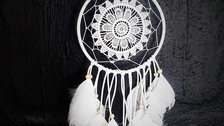 Large Crochet Dreamcatcher