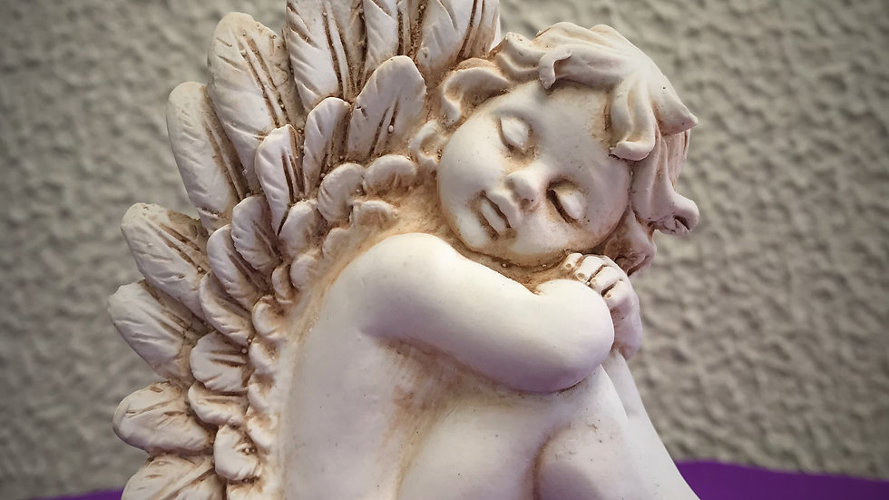 Resting Angel Statue (Mini) - 9cm x 4cm x 8cm