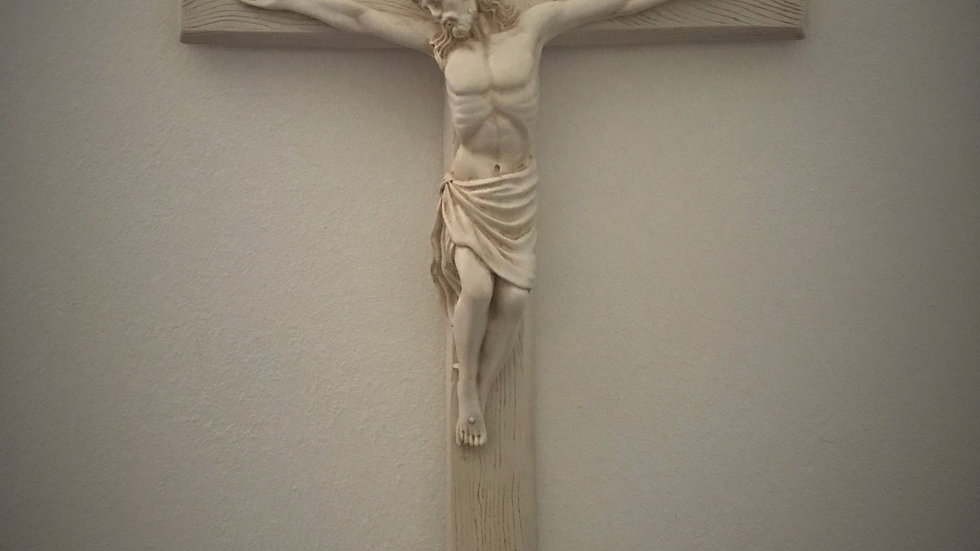 Large Jesus on the Cross, Wall-Hanging - 50cm x 28cm