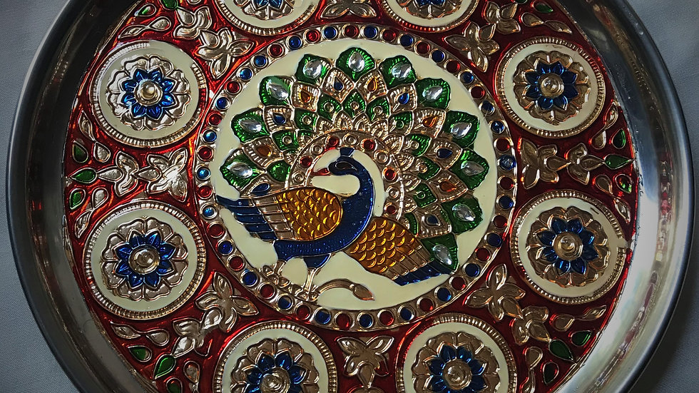 Mīnākārī Peacock-Tray