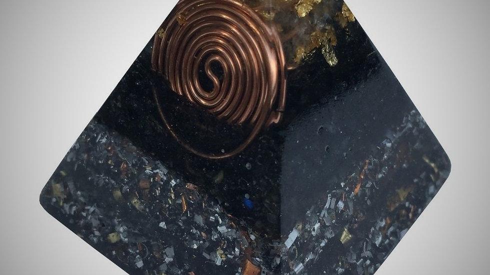 Orgonite Pyramid - Clear Quartz & Black Tourmaline