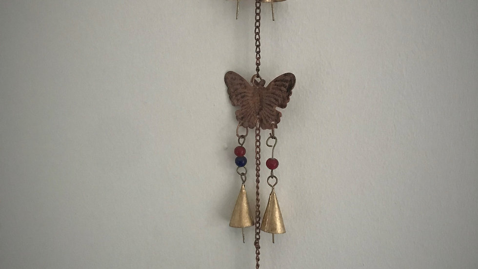 Butterfly-Chime with Bells (Bronze)