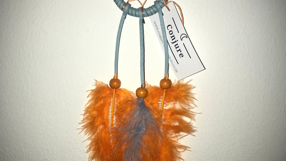Dreamcatcher - (Light Blue/Orange)