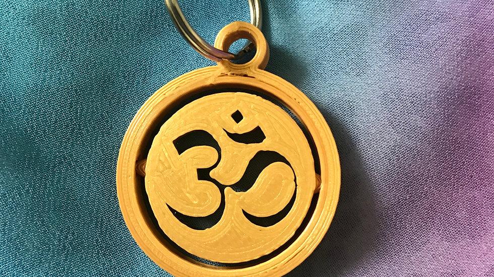 Aum Gyro/Spinning-Keyring - (Gold)