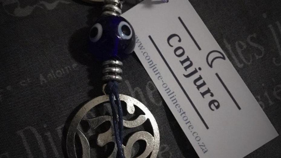 Evil-Eye/Aum Circle Keyring