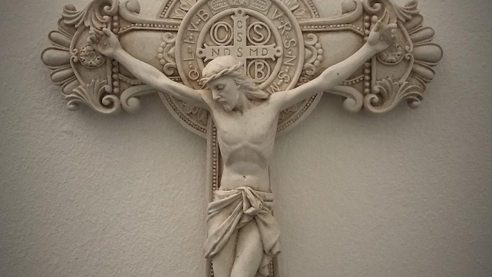 Crucifixion of Jesus - (St. Benedict/Detailed) - 26cm x 19cm