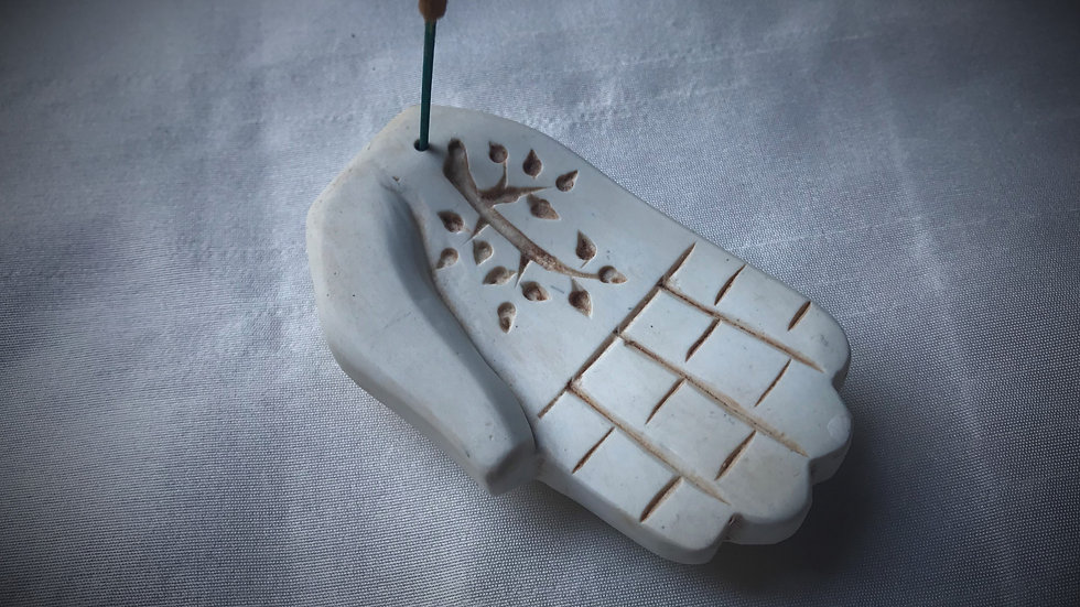 Small-Hand Incense Holders (White)