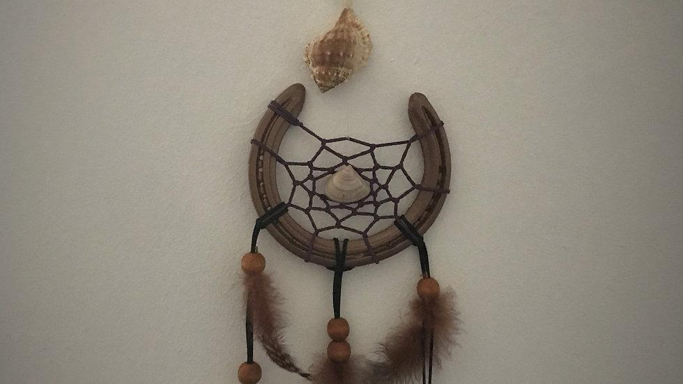 Horseshoe-Dreamcatcher (Seashells/Wooden Beads)