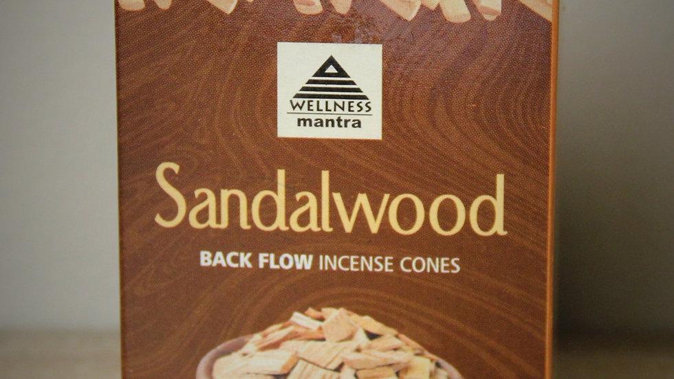 Sandalwood - (10) Backflow Incense Cones