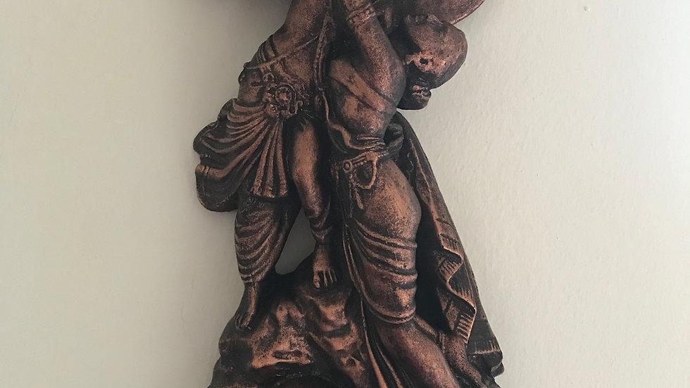 Radha-Krishna, Wall-Hanging - 36cm x 20cm