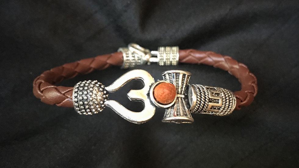 Shiva-Trishul - Leather Bracelet