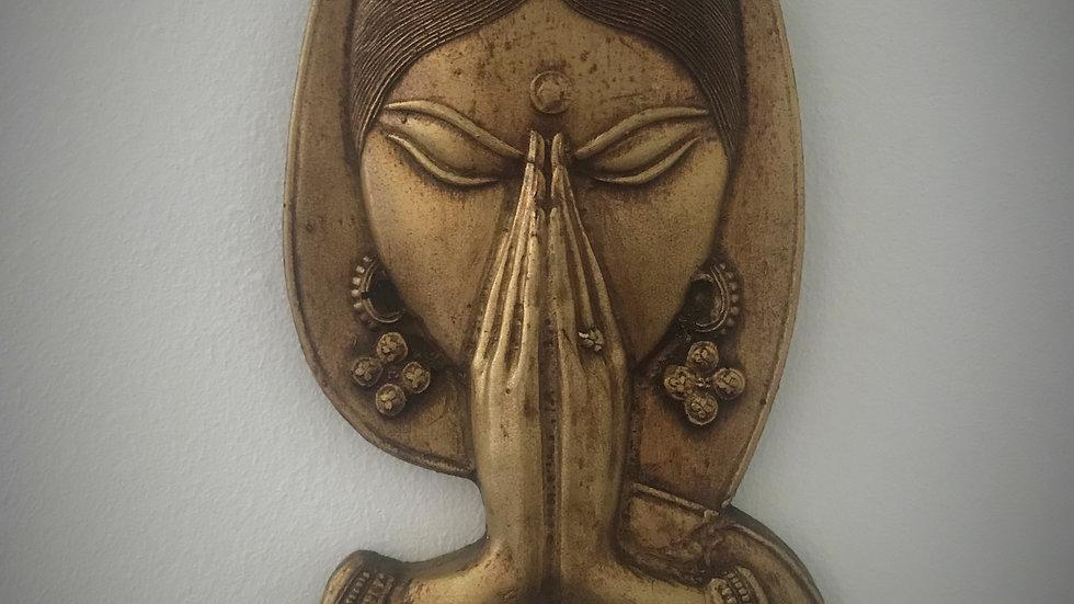 Welcome - Namaste, Wall-Hanging (Bronze)