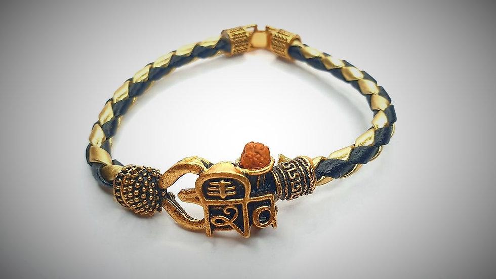 Shiva Faux Leather Bracelet