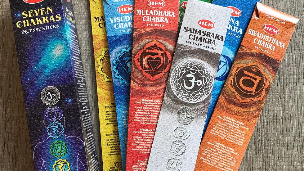 Seven Chakras Incense Sticks