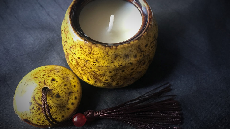 Scented Candle Jar (Yellow)