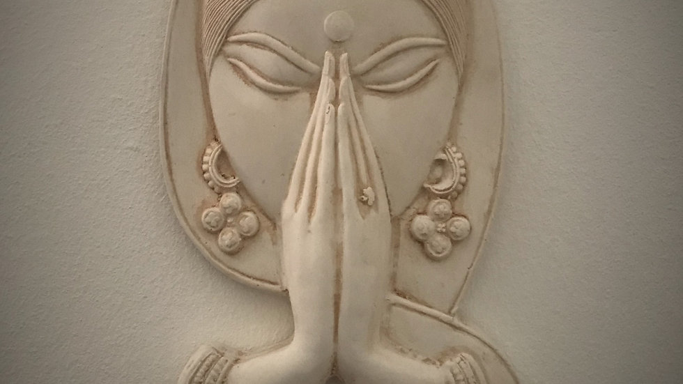 Welcome - Namaste, Wall-Hanging (Antique White)