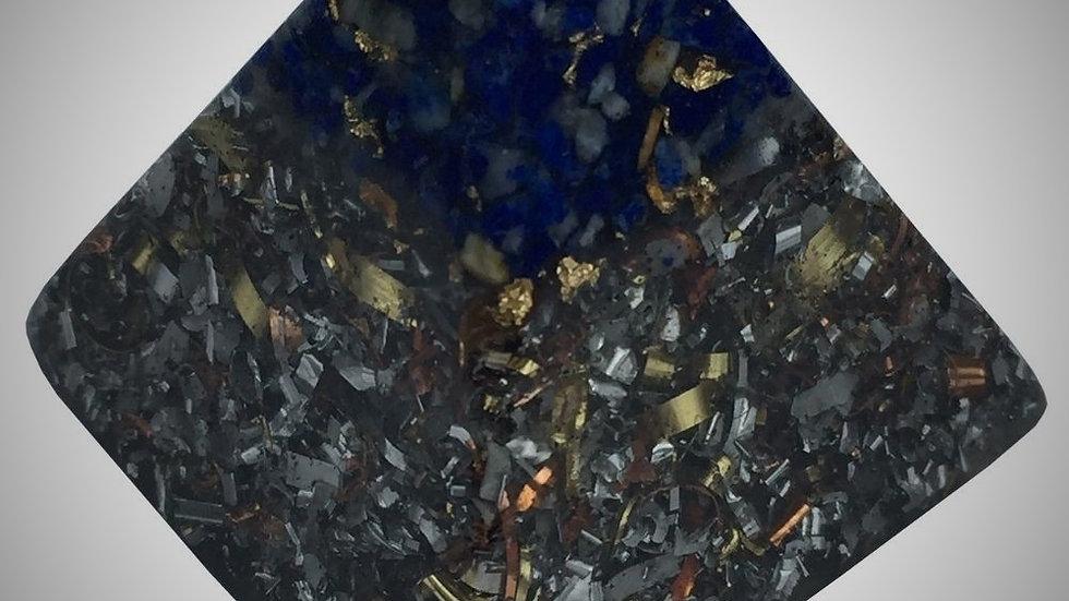 Orgonite Pyramid - Lapis Lazuli & Imitation Gold Leaf
