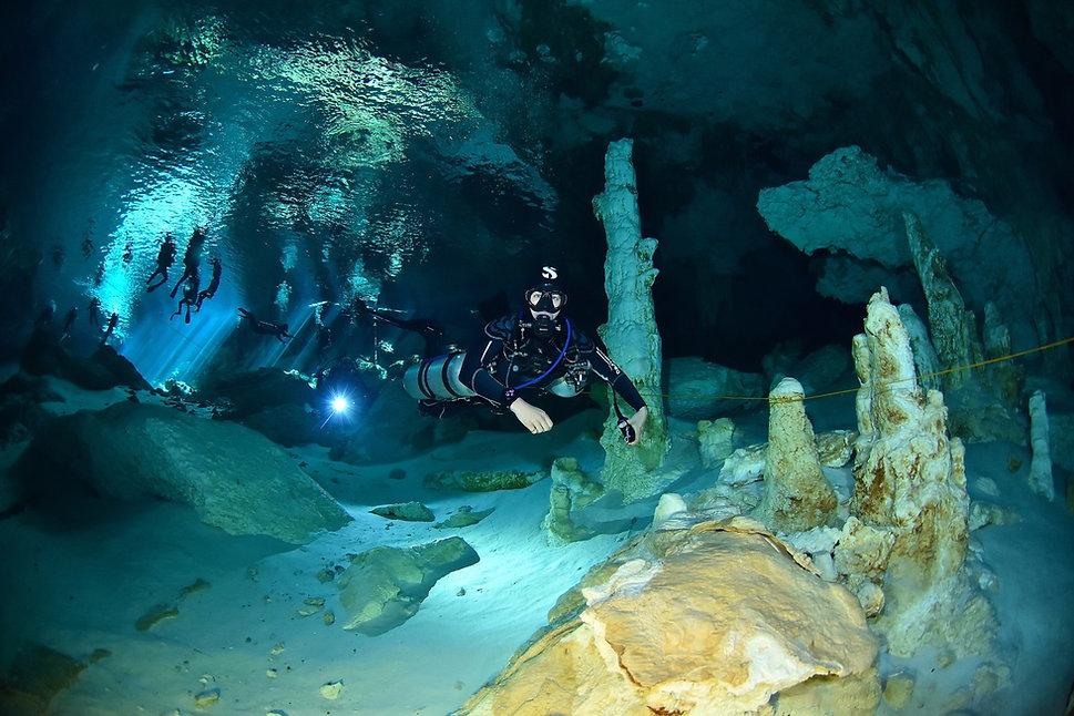 Cenote Diving Playa del Carmen Mexic