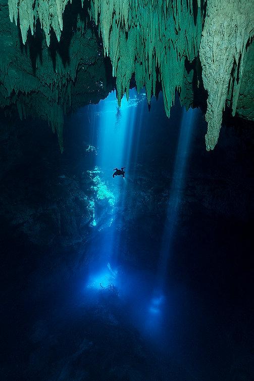 Cenote Diving Playa del Carmen Mexico Tulum Cancun Scuba Diving El Pit