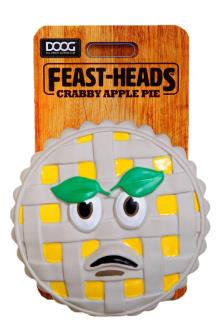 Doog 'Feast-Heads' Toy - Crabby  Apple Pie