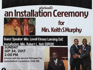 Bro. Keith Murphy to be Installed as Minister of the Hillside Congregation
