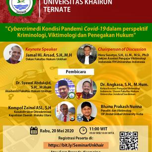 Cybercrime di Kondisi Pandemi Covid-19 dalam perspektif Kriminologi, Viktimologi dan Penegakan Hukum