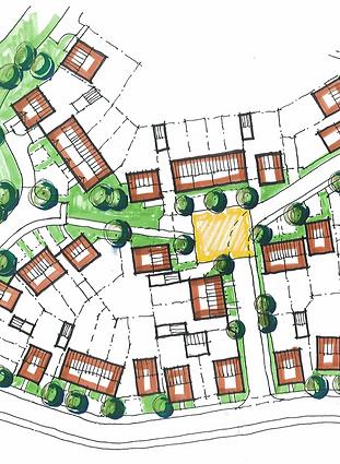 Masterplan, Drawing, Housing
