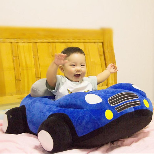 Car Soft Plush Sitting Chair Support Seat Cover Learning To Sit Toys