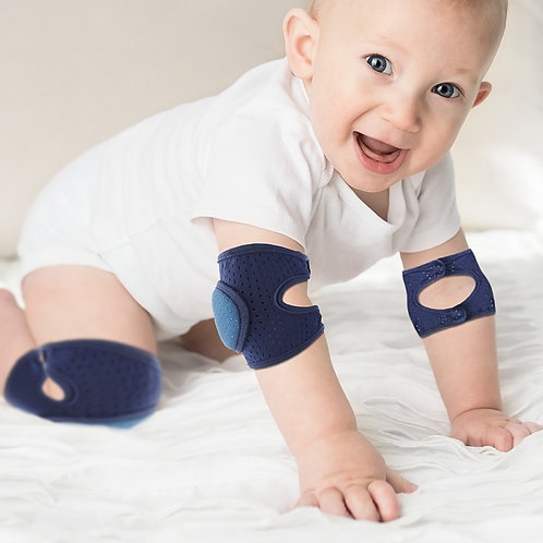 Kneepad Protector Soft Thicken Terry Non-Slip Dispensing Safety Crawling Baby