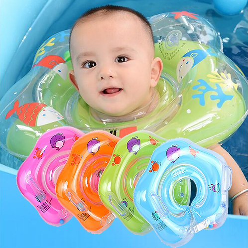 Neck Ring Tube Safety Infant Float Circle for Bathing