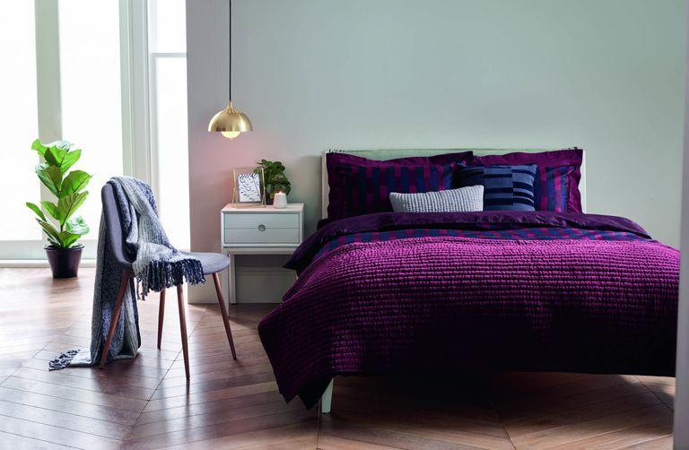 Bright clean positive purple and indigo