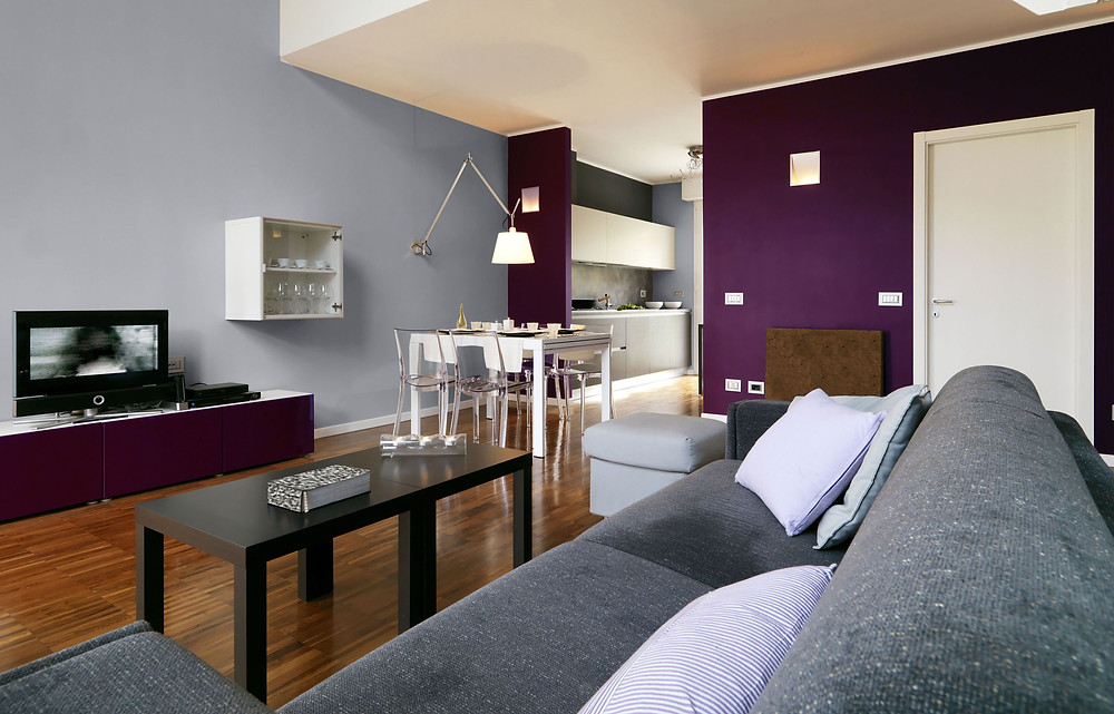 In a colour scheme the bold form of the colour can be balanced by silver and grey