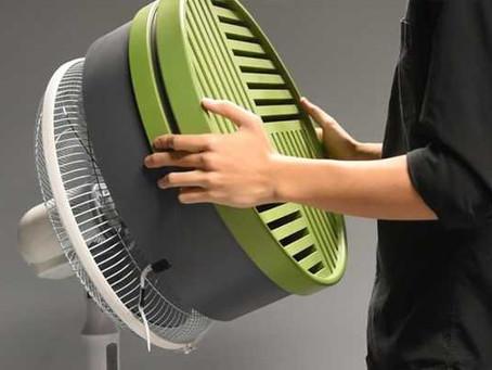 Acessório para ventilador é opção ecológica ao ar condicionado
