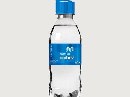 AMBEV doará 500 mil frascos de Álcool em gel