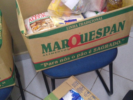 CEV arrecada alimentos para famílias afetadas pela situação do covid-19