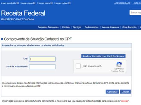 Como consultar e regularizar o CPF na Receita para receber o auxílio emergencial