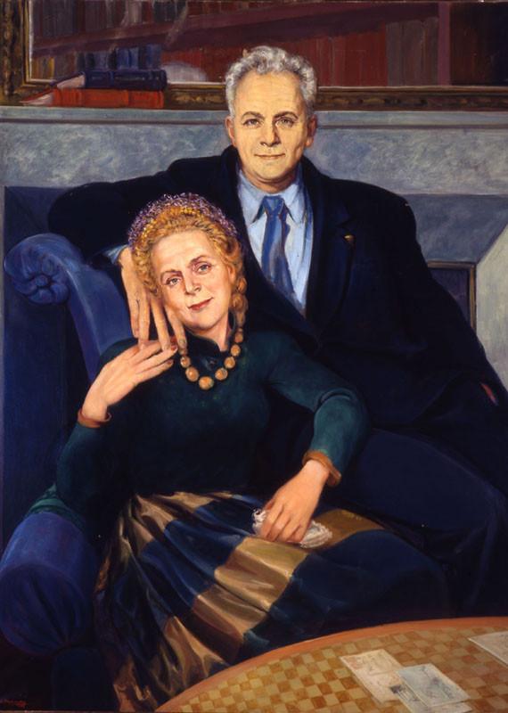 Elsa Triolet et Louis Aragon, tableau de Boris Taslitzky