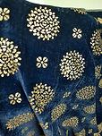 Foil work fabric vishat velvet surat vel