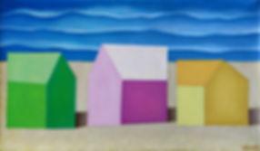 The beach, 2015, Oil on Canvas
