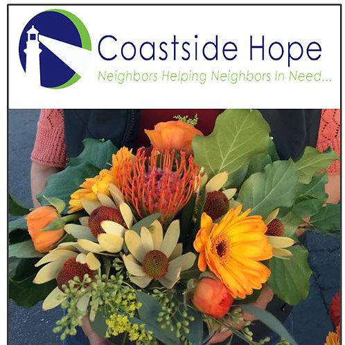 Donate floral bubble bowl to Coastside Hope