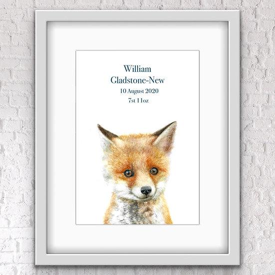 Personalised baby fox