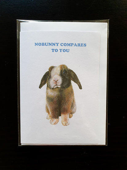 NOBUNNY COMPARES TO YOU card