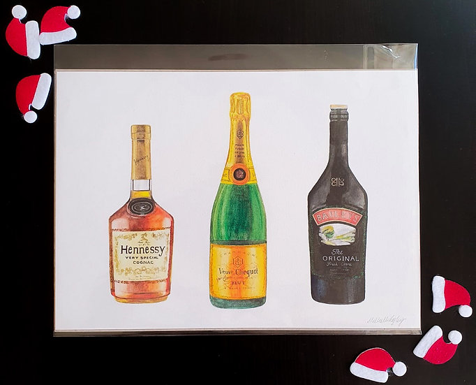 Christmas alcohol print
