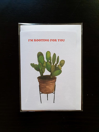 I'M ROOTING FOR YOU card
