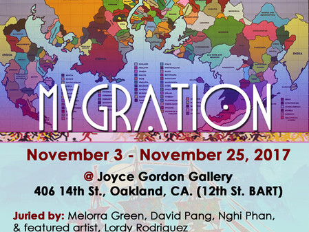 MYGRATION at Joyce Gordon Gallery, November 2017