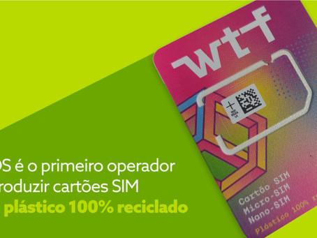 Operadora NOS lança os primeiros cartões SIM produzidos de plástico 100% reciclado