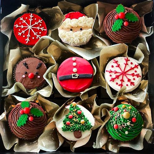 CHRISTMAS CUPCAKE BOX