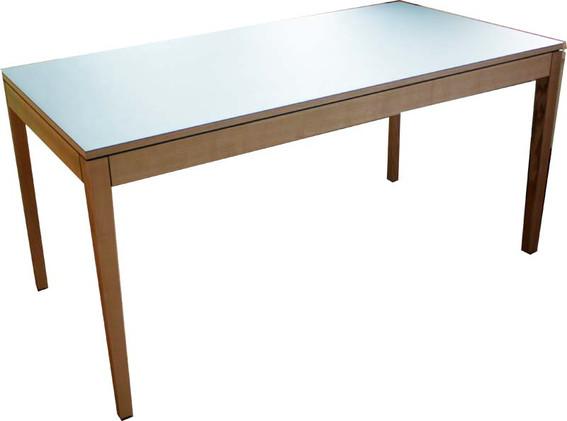 Tisch in Esche/ Linoleum